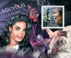 Michael Jackson, (1958-2009). - Issue of Central African republic postage stamps