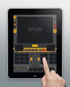 vPad (iPad VJ App Mock Design)