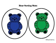 Freebie! Counting Bears- Sorting Mats. Great to use in math centers!