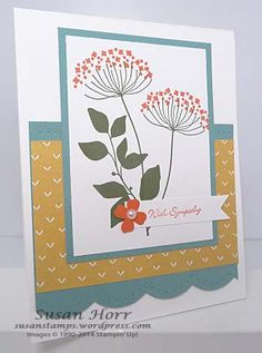 Summer Silhouettes, Stampin Up, sympathy card, susanstamps.wordpress.com