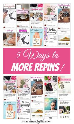 5 Ways to More Repins on Pinterest. How to get more repins.