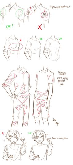 Clothes folding~ ✤ || CHARACTER DESIGN REFERENCES | キャラクターデザイン |