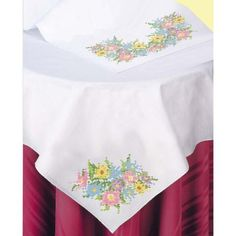 Herrschners Magnolia Table Runner Stamped Cross-Stitch