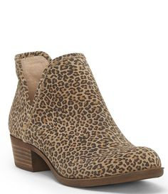 182107e919903 Lucky Brand Bashina 2 Leopard Block Heel Booties