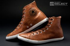 Converse - Chuck Taylor All Star Slim - HI Cut - Brown leather Converse Slim, Leather Converse, Converse Shoes, Men's Shoes, Shoe Boots, Skate Shoes, Leather Sneakers, Converse Chuck Taylor All Star, Converse All Star