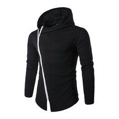 e85b1db6448 Stylish Men s Coat Casual Hooded Outwear Zipper Cardigan Hoodies Jacket  Tops Modă Masculină