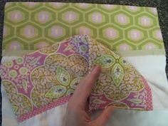 Super tutorial on how to make all that decorative stuff on a two sided burp cloth actually line up and look good on BOTH sides. Yep...needed this one!
