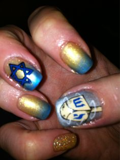 channukkah nails