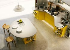 round kitchen island from Snaidero
