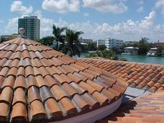 This is a handmade clay tile roof expertly installed on this elegant Bal Harbour home by the most professional roofing contractor in Miami.