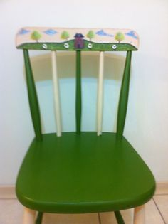 Cadeira com motivo country primitive