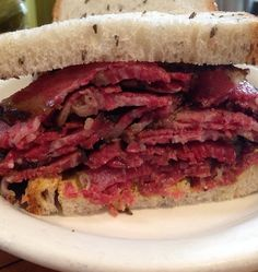 Smoked Meat Perfection at Mile End Deli. #NYC