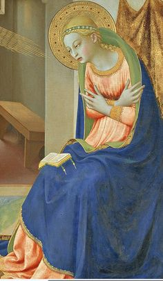 By Fra Angelico, Ca. 1 4 2 The Annunciation (detail). It entered the Prado… Madonna, Italian Renaissance, Renaissance Art, Religious Icons, Religious Art, Fra Angelico, Italian Paintings, Catholic Art, Italian Artist