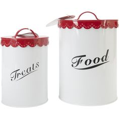 Food & Treat Canister Set -Red
