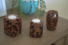 Handmade tea light candle holder!   Made from Banksia seed pods found in Western Australia