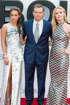 Matt Damon Is Surrounded by Gorgeous Women at the UK Premiere of His New Film