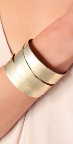 Love this Marc by Marc Jacobs Metal Ribbon Narrow Wrapped Cuff