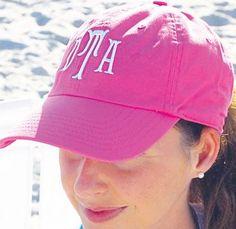 Monogrammed ball cap - so cute!