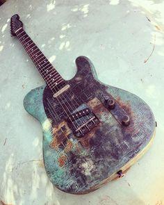 James Trussart Guitars Titanic Green Gator SteelCaster