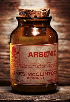 Arsenic-Scheele's Green  http://www.dailymail.co.uk/health/article-1245809/Found-wallpapers-dresses-libido-pills-Arsenic-Victorian-Viagra-poisoned-Britain.html