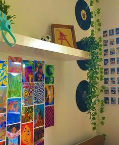 Cute Room Ideas, Cute Room Decor, Indie Room Decor, Chill Room, Cozy Room, Retro Room, Vintage Room, Room Ideas Bedroom, Bedroom Decor