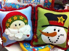 Winter Felt Pillows