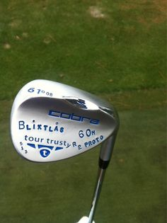 """May 16, 2013: """"Secret weapon of the year.. #tourtrusty,"""" said PGA Tour player Jonas Blixt (@jonasblixt) about this colorfully decorated wedge."""