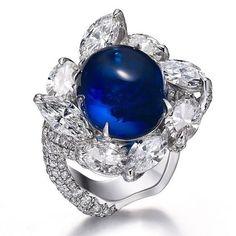 Faidee cabochon sapphire Blue Sapphire Rings 22ae61f88