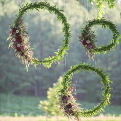 hula hoops floral decor