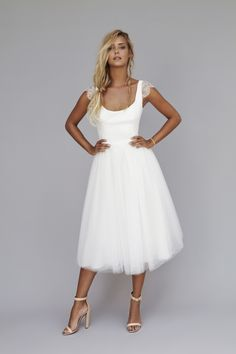 New Brunch Wedding Attire Ideas Civil Wedding Dresses, Wedding Party Dresses, Bridal Dresses, Cocktail Wedding Dress, Wedding Dress Over 40, Casual Wedding, Wedding Attire, Brunch Wedding, Wedding Robe
