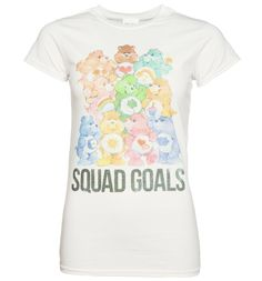 TruffleShuffle Womens Care Bears Squad Goals T-Shirt You wont find a squad much cuter, more colourful and radiating retro cool than Care Bears! Show your love for Cheer Bear, Love-a-Lot Bear, Good Luck Bear, Grumpy Bear and the rest of the gang with thi http://www.MightGet.com/february-2017-3/truffleshuffle-womens-care-bears-squad-goals-t-shirt.asp