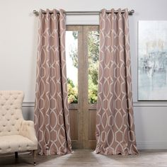 These energy saving blackout curtain panel pairs keep light out and enrich your home with style. Designed with shades of bronze, this blackout curtain panel pair is stylish and attractive.