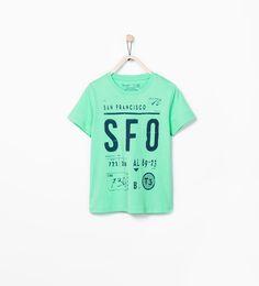 "Image 1 of ""SFO"" T-SHIRT from Zara"