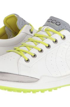 ECCO Golf BIOM Hybrid Hydromax (White/Lime Punch) Men's Lace up casual Shoes - ECCO Golf, BIOM Hybrid Hydromax, 131614-55365, Footwear Closed Lace up casual, Lace up casual, Closed Footwear, Footwear, Shoes, Gift - Outfit Ideas And Street Style 2017