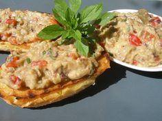 V kuchyni vždy otevřeno ...: Lilková pochoutka Pesto, Baked Potato, Quiche, Ham, Potatoes, Baking, Breakfast, Ethnic Recipes, Red Peppers