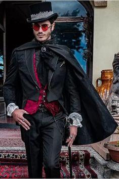 Mode Steampunk, Style Steampunk, Steampunk Clothing, Steampunk Costume, Steampunk Fashion Men, Gothic Steampunk, Suit Fashion, Look Fashion, Fashion Outfits