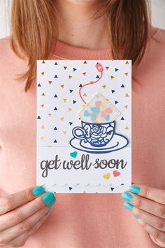 Get well shaker card Get Well Soon, Shaker Cards, Crafts To Do, Wellness, Projects, Inspiration, Log Projects, Biblical Inspiration, Blue Prints