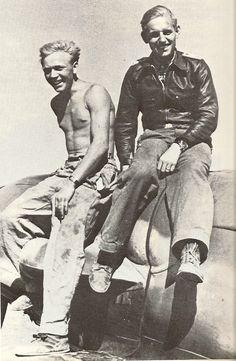Erich Hartmann and his mechanic Heinz Mertens.