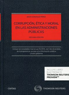 Se es membro da Universidade de Vigo podes solicitalo a través desta páxina http://www.biblioteca.uvigo.es/biblioteca_gl/servizos/coleccions/adquisicions/ Corrupción, ética y moral en las Administraciones Públicas. - Jesús González Pérez. - Thomson-Aranzadi, 2014. 35€