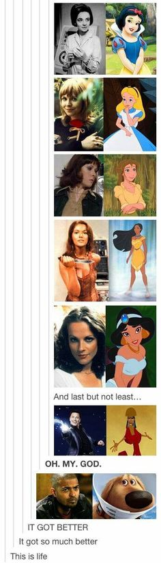 Companions as Disney Princesses