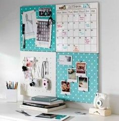 College Dorm Storage Ideas | College Lifestyles | Organiser for University | Halls | Turquoise | Desk Ideas | Wall Organiser