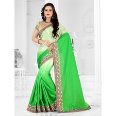 sareeka sarees green silk Saree with blouse piece