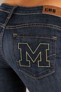 OCJ Apparel   Premium Collegiate Denim   Michigan Wolverines