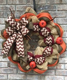 Fall - check out my wreath page on FB - Meshed Up Designs by Kim. Ships anywhere, PayPal accepted.