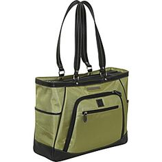 "Clark & Mayfield Sellwood XL 17.3"" Laptop Tote - Green Tea - via eBags.com!"