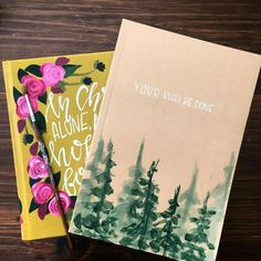 Great idea for my Bible that I'm going to paint! My Bible, Bible Art, Bible Verses, Bible Verse Painting, Painted Books, Hand Painted, Cute Bibles, Bible Covers, Journal Covers