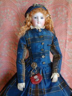 "Rare Wood Body Smiling Bru Fashion Poupee 16"" All Original from kathylibratysantiques on Ruby Lane"