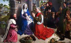 The Adoration of the Kings (Monforte Altar) / La adoración de los Reyes Magos // around 1470 // Hugo van der Goes // Gemäldegalerie, National Museums in Berlin // #Jesus #Christ #Epiphany #Epifanía