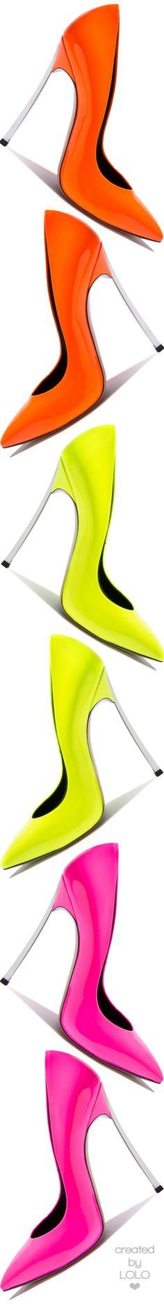 Casadei   LOLO ❤︎ Bright orange shoes www.ScarlettAvery.com