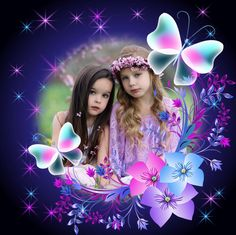 Butterflies in PhotoMontager.com